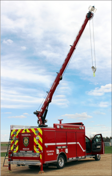 Scene Commander with crane/light.camera configuration. EH4520 crane is extended with spotlight on