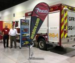 David Wunderlin & Tom Leckband with MCB rescue at Florida trade show - January 2017